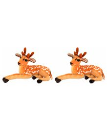 Deals India Deer Soft Toy Pack Of 2 - 32 cm