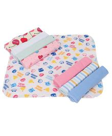 Babyhug Wash Clothes Printed - Pack of 8