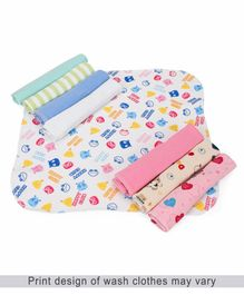 Babyhug Wash Clothes - Pack of 8