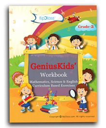 Genius Kids Workbooks For Class 2 Set Of 6 Books - English