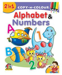2 In 1 Copy N Colour Alphabets & Numbers - English