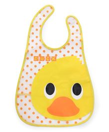 Babyhug Waterproof Plastic Crumb Catcher Bib Duck Print (Color May Vary)