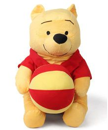 Disney Winnie The Pooh Soft Toy Red Yellow - Height 43 cm