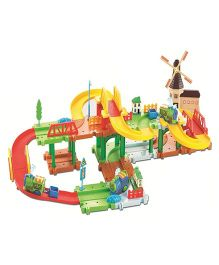 Webby Mega Windmill 24 Train Set With Music And Lights Multi Color - 52 pieces