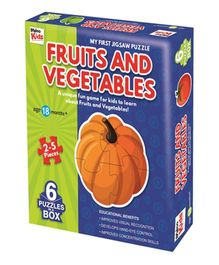 Braino Kids My First Jigsaw Vegetables - Blue