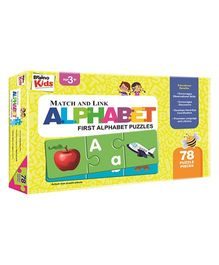Braino Kids Match And Link First Alphabet Puzzles - 78 Pieces