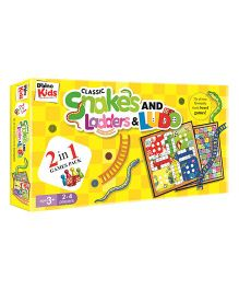Braino Kids Snakes And Ladders & Ludo - Yelllow