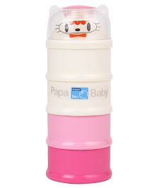Papa Milk Container - Pink White