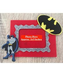 Kalacaree Bat Theme Magnetic Photo Frame - Red