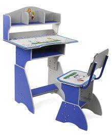 77b39467c0e Kids Study Table With Chair Bear And Giraffe Print - Blue