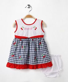 M'Princess Basics Cherry Cotton Dress - Blue