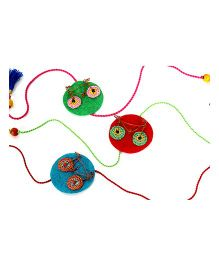 Samoolam Crafts Cycle Rakhi Set - Multicolor