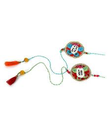Samoolam Crafts Turtle Rakhi Set - Red & Green