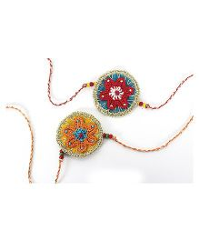 Samoolam Crafts Star Fish Rakhi Set - Red & Orange