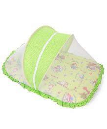 Mee Mee Pink Mattress Set With Mosquito Net - Green (Design May Vary)