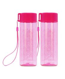 Small Wonder Gym Water Bottle Butterfly Design Pink Pack Of 2 - 250 ml