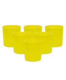 Small Wonder Glasses Opaque Pack Of 6 - Yellow