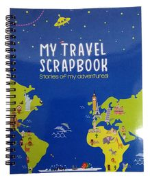 Cocomoco Kids Travel Scrapbook With Stickers