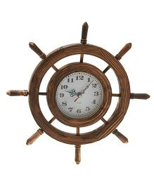 Ez Life Wooden Nautical Clock - Brown