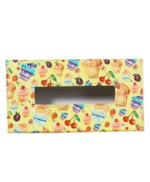 The Crazy Me Cupcake Tissue Box Holder - Yellow