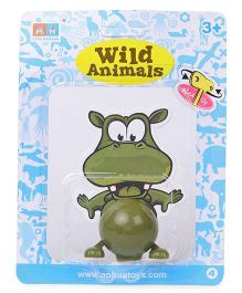 Playmate Wind Up Hippo Toy - Green