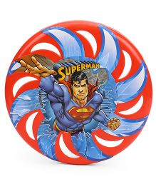 DC Comics Red Flying Disc Superman Print (Color May Vary)