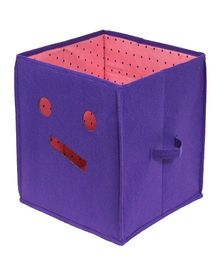 Prettykrafts Emoticons Storage Box - Purple