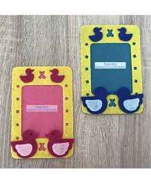 Kalacaree Set Of 2 Baby Duck Theme Magnetic Photo Frame - Pink & Blue