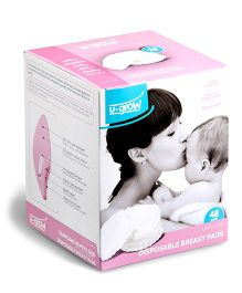 U-grow Disposable Breast Pads - Pack Of 48