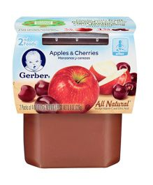 Gerber Apple & Cherries 2nd Foods Pack Of 2 - 113 gm (each)