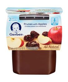 Gerber Prunes With Apples 2nd Foods Pack Of 2 - 113 gm (each)