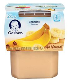 Gerber Banana Ready To Use 2nd Foods Pack of 2 - 113 gm (each)