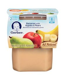 Gerber Banana Apple Pear 2nd Foods Pack Of 2 - 113 gm (each)