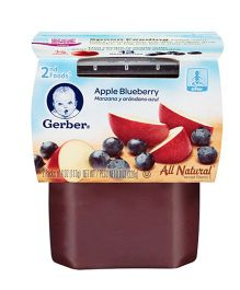 Gerber Apple Blueberry 2nd Foods Pack Of 2 - 113 gm (each)