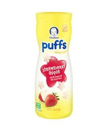 Gerber Strawberry Apple Puffs Cereal Snack - 42 gm