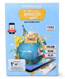 Smartivity Augmented Reality Edge Magnificient Wonders of the World Colouring Sheets - 10 Sheets