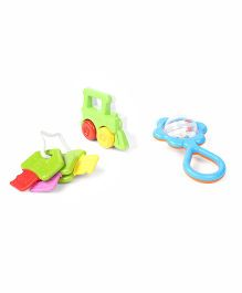 Giggles Funskool Mini Rattle Gift Set Pack Of 3 - Multicolor