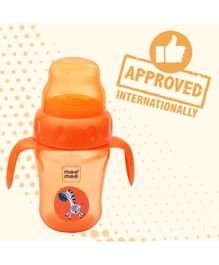Mee Mee 2 in 1 Sprout & Straw Sipper Cup Orange - 210 ml