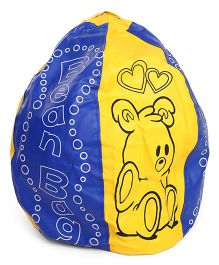 Awals Non Filled Bean Bag - Blue Yellow