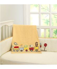Little West Street Choo Choo Friends Baby & Toddler Cotton Dohar - Yellow