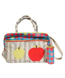 The Button Tree Apple Boo Boom Design Diaper Bag - Multicolor