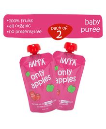 Happa Organic Only Apples Fruit Puree Pack of 2 - 100 gm each