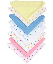 Grandma's Plain And Printed Wash Clothes Pack Of 8 - Print May Vary