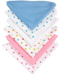 Grandma's Plain And Printed Wash Clothes Pack Of 6 - Print May Vary