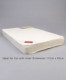 Babyhug Baby Mattress Self Design - Off White