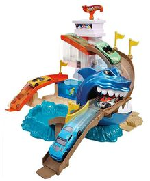 Hot Wheels Color Shifters Sharkport Showdown Playset - Blue