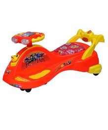Ehomekart Transformers Twist & Swing Magic Car - Orange & Yellow
