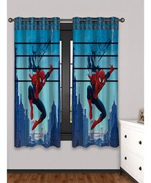 Athom Trendz Marvel Spider Man Window Curtain Set Of 2 MAR-412-WC1-C2-E - Red & Blue