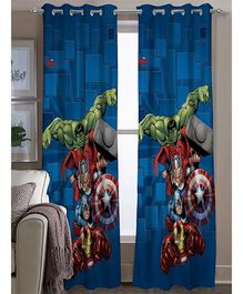 Athom Trendz Marvel Avengers Door Curtain Set Of 2 MAR-408-DC1-C2-E - Blue Red Green