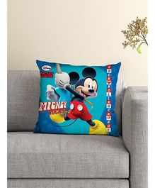 Athom Trendz Disney Mickey Mouse Cushion With Cover DIS-10-3-D13-FL-M - Blue Multicolor